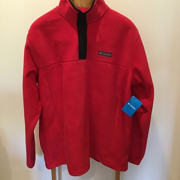 Columbia Steens Mountain Half Snap Red Jacket 4X